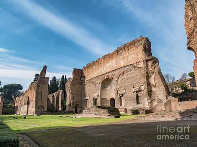Caracalla, Baths, Roman, Rome, Italy, Ancient, Terme, Landmark,  Poster