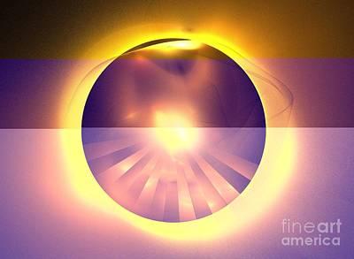 Caramel Sun Poster by Kim Sy Ok