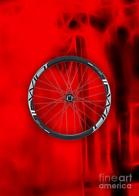 Carbon Fiber Bicycle Wheel Collection Poster by Marvin Blaine