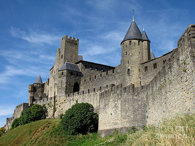 Poster featuring the photograph Carcassonne France by Jacqi Elmslie