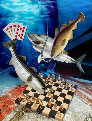 Card Shark And One On The Hook Poster