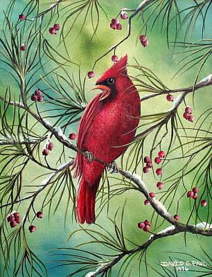 Cardinal Poster by David G Paul