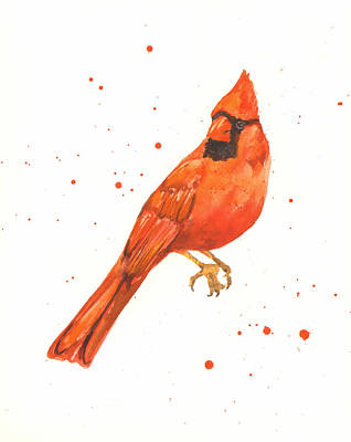 Cardinal Painting Poster by Alison Fennell
