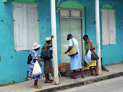 Poster featuring the photograph Caribbean Blue, Speightstown, Barbados by Kurt Van Wagner