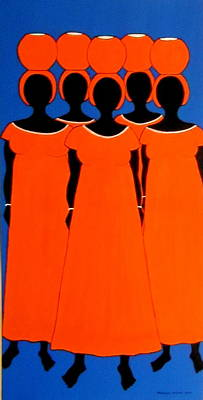 Poster featuring the painting Caribbean Orange by Stephanie Moore