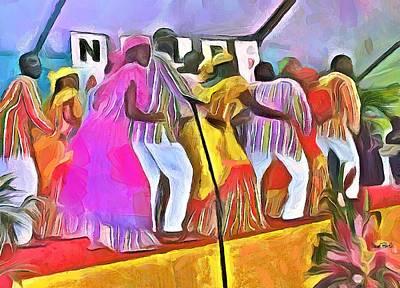 Caribbean Scenes - Folk Dancers Poster by Wayne Pascall