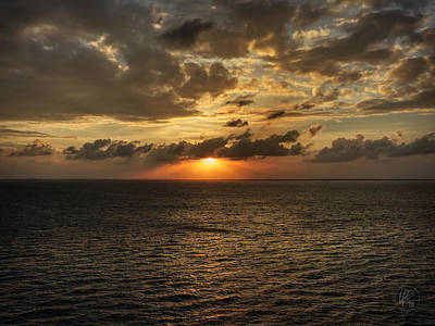 Caribbean Sunset 001 Poster by Lance Vaughn
