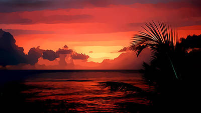 Caribbean Sunset Poster by Gareth Davies