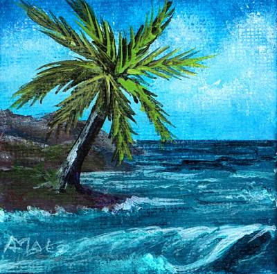 Poster featuring the painting Caribbean Vacation #1 by Anastasiya Malakhova
