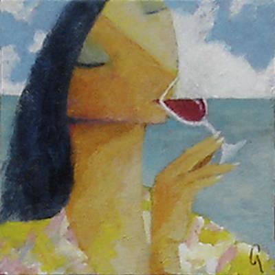 Caribbean Wine Tasting Poster by Glenn Quist