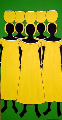 Poster featuring the painting Caribbean Yellow by Stephanie Moore