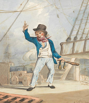 Caricature Of A Sailor Poster by John Sell Cotman