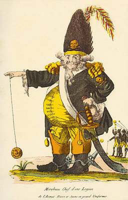 Caricature Of Andre Boniface Louis Poster