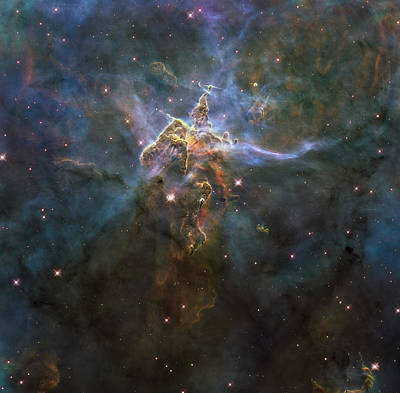 Carina Nebula Star-forming Pillars Poster by Stocktrek Images
