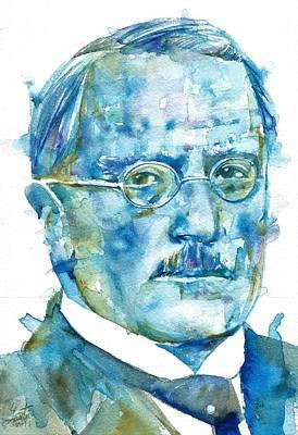 Carl Jung - Watercolor Portrait.6 Poster