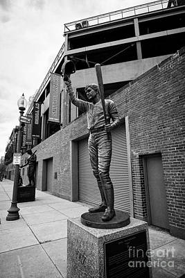 carl yastrzemski yaz statue at Fenway park home of the Boston Redsox USA Poster