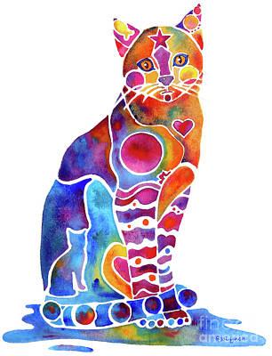 Carley Cat Poster by Jo Lynch