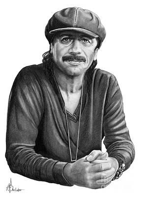 Carlos Santana Poster by Murphy Elliott