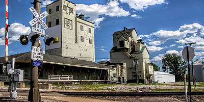 Carlton Michigan Feed Mill Poster by Pat Cook