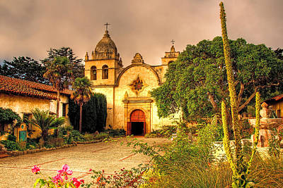 Carmel Mission Poster by Maria Coulson