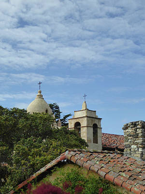Carmel Mission Rooftops Poster by Gordon Beck
