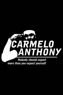 Carmelo Anthony Poster by Augen Baratbate