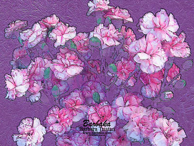 Poster featuring the digital art Carnation Inspired Art by Barbara Tristan
