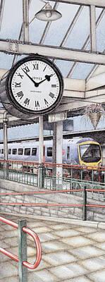 Carnforth Railway Station Clock Lancashire  Poster
