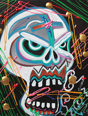 Carnie Skull Poster by Laura Barbosa