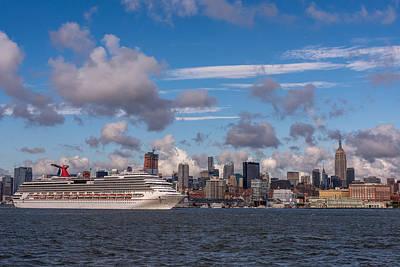 Carnival Cruise Splendor Waterfront Hoboken Nj Poster by Terry DeLuco