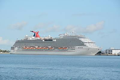 Poster featuring the photograph Carnival Magic At Port Canaveral by Bradford Martin