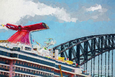 Carnival Spirit And Harbour Bridge Poster