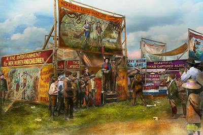 Carnival - Wild Rose And Rattlesnake Joe 1920 Poster by Mike Savad