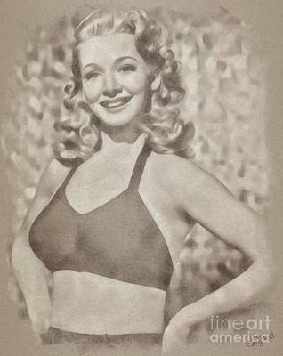 Carole Landis, Vintage Hollywood Actress Poster