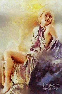Carole Lombard, Vintage Hollywood Actress Poster by Sarah Kirk