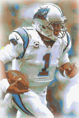 Carolina Panthers Cam Newton 2 Poster by Joe Hamilton