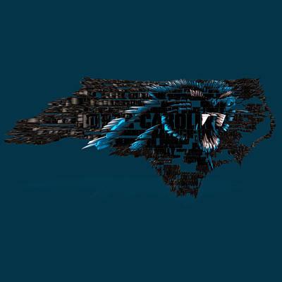 Carolina Panthers Typographic Map 4a Poster