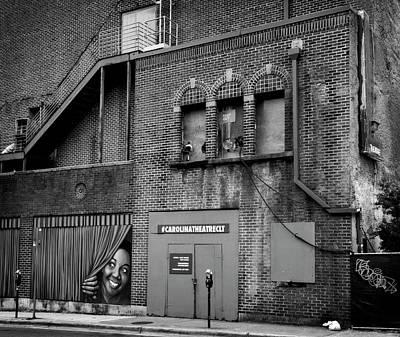Carolina Theatre In Black And White Poster
