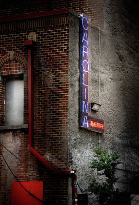 Carolina Theatre Neon Poster