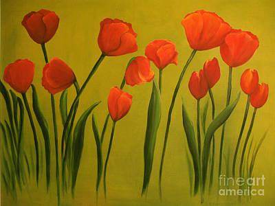 Carolina Tulips Poster by Carol Sweetwood