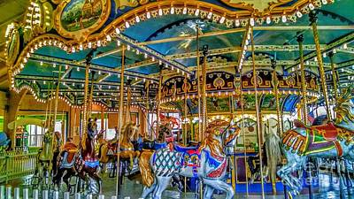 Carousel At Peddlers Village Poster