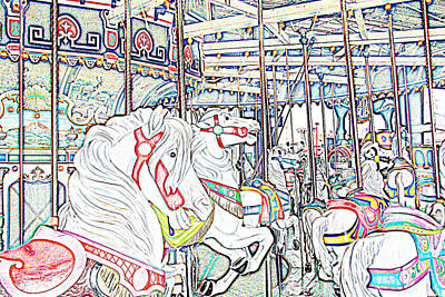 Carousel At Wonderland Poster by Kevin  Sherf