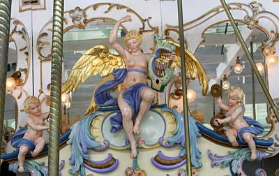 Carousel Cherubs Poster by Anne Babineau