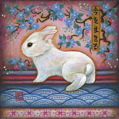 Carpe Diem Rabbit Poster by Retta Stephenson