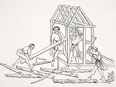 Carpenters. 19th Century Reproduction Poster