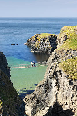 Carrick-a-rede Rope Bridge Northern Ireland Poster by Pierre Leclerc Photography