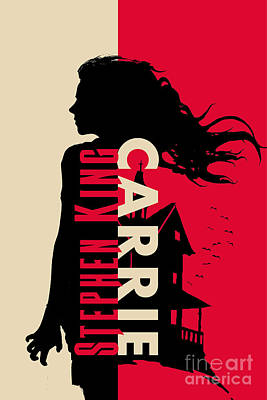 Carrie By Stephen King Book Cover Movie Poster Art 1 Poster by Nishanth Gopinathan