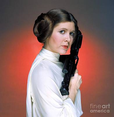 Carrie Fisher As Star Wars Character Princess Leia  Poster by The Titanic Project