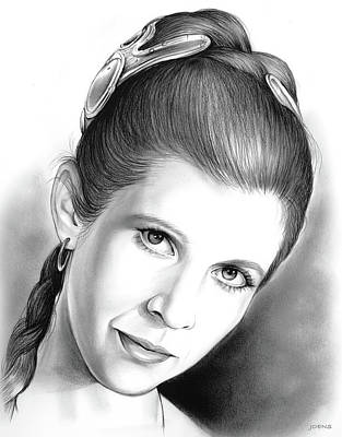 Carrie Fisher Poster by Greg Joens