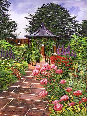 Carrington Garden Poster by David Lloyd Glover
